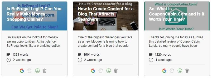 Site Content Article Entries