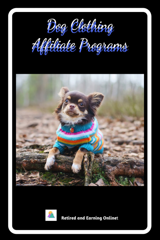 Pinterest Graphic - Dog Clothing Affiliate Programs