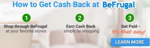 How to Get Cash Back at BeFrugal