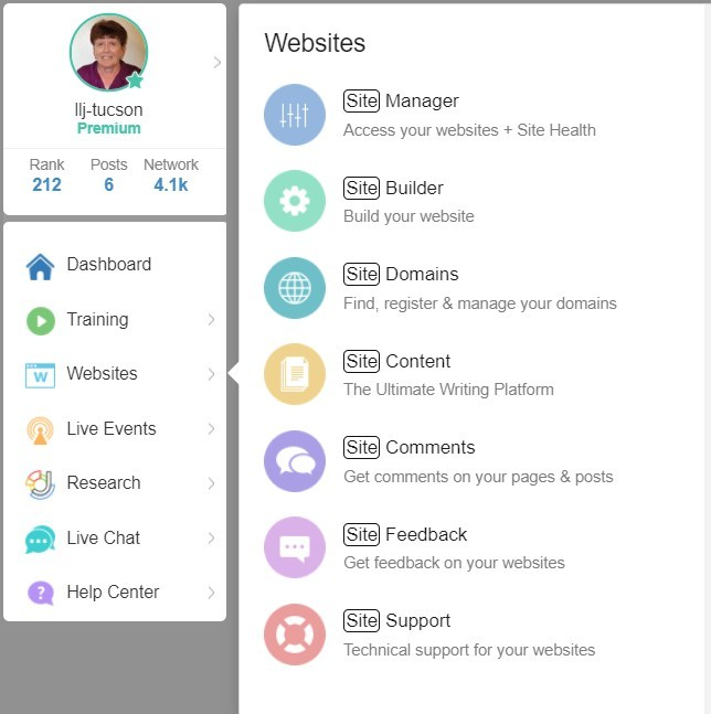 WA Profile Website Menu