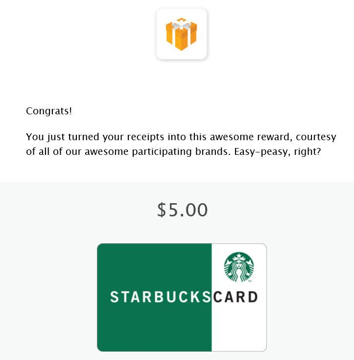 Free Starbucks Gift Card From Fetch Reward