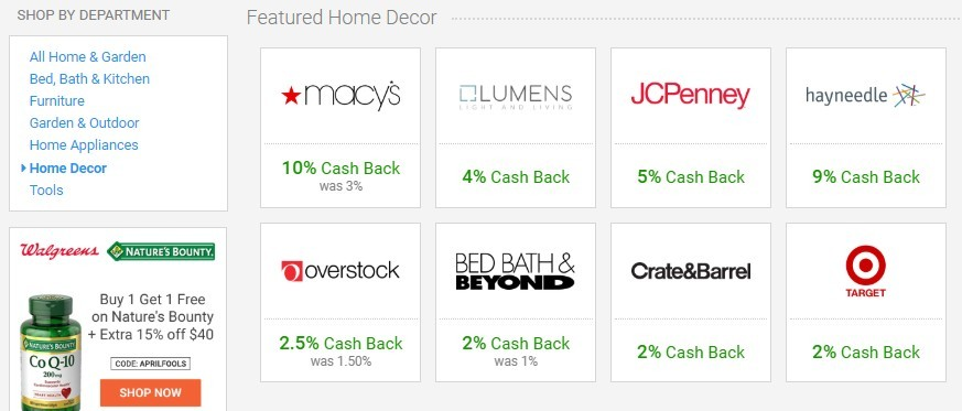 BeFrugal Featured Home Decor Stores