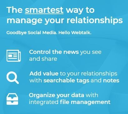 Webtalk - The smart way to network