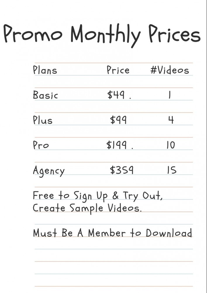 Promo Monthly Pricing Plans