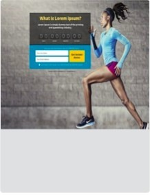 Capture Page With Woman Running