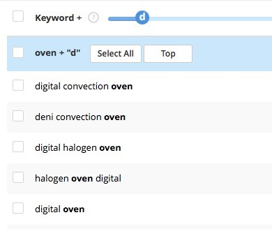 Alphabet Keyword Search Technique With Letter D