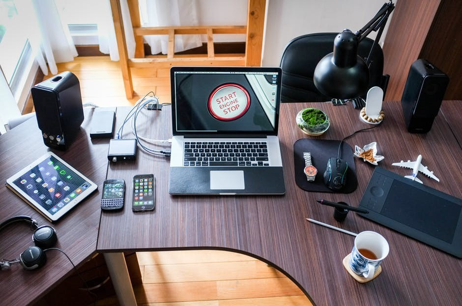 technological gadgets associated with the office relocation