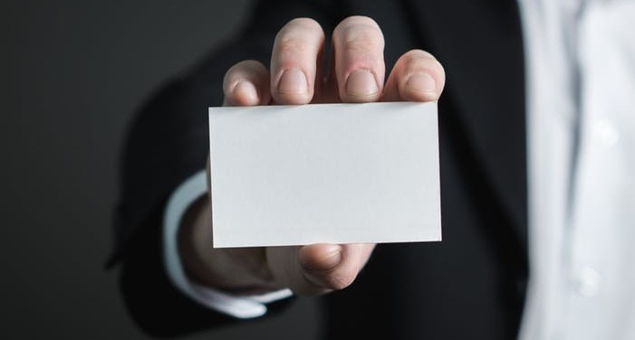 business card as a way to market your business