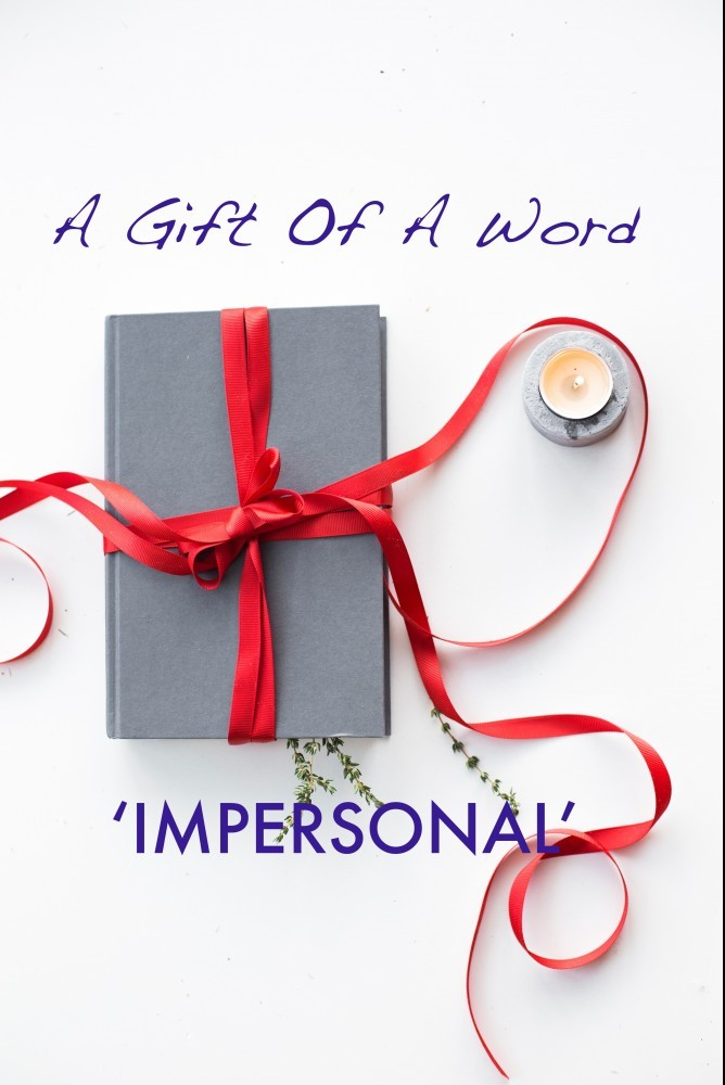 A GIFT OF A WORD