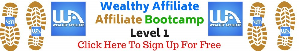 Wealthy Affiliate Affiliate Bootcamp Level 1