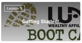 Wealthy Affiliate Affiliate Bootcamp Level 1 Lesson 1