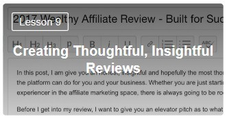 Wealthy Affiliate Affiliate Bootcamp Level 1 Lesson 9