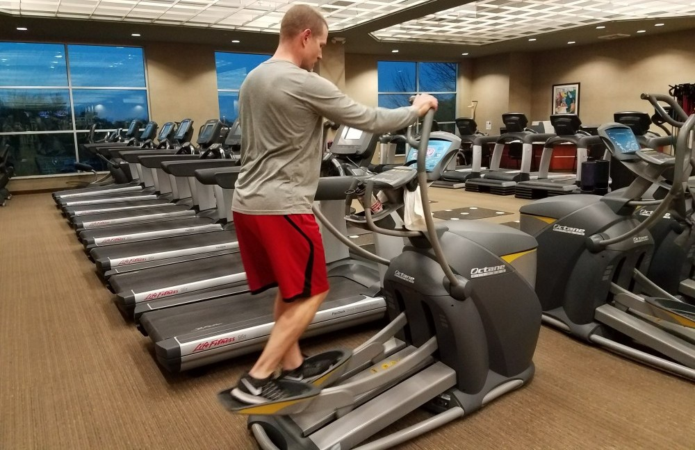 Me demonstrating how to buy an elliptical