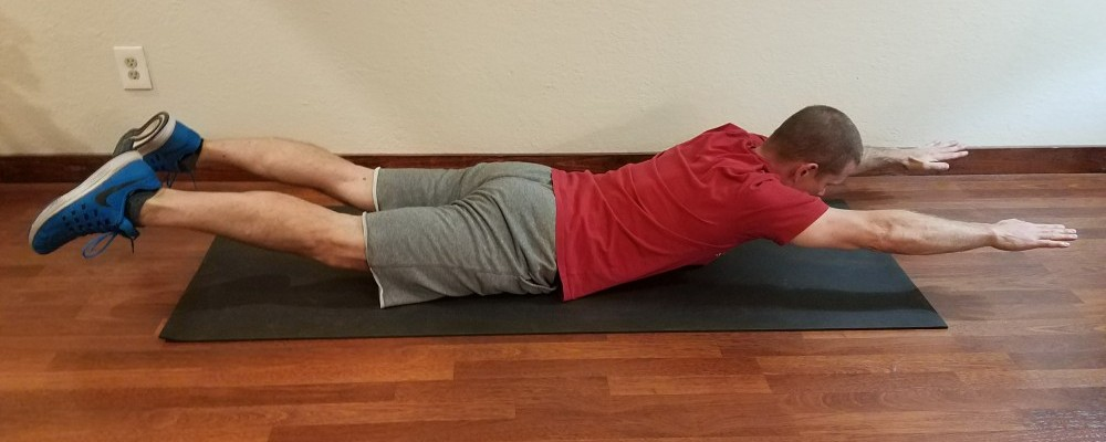 Me performing back extensions, exercises that help posture