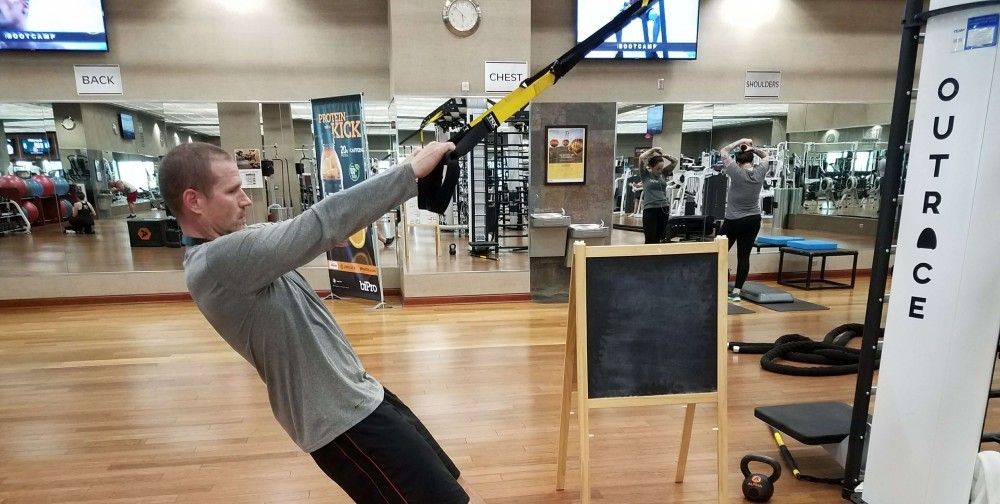 TRX Training Suspension System Upright Row