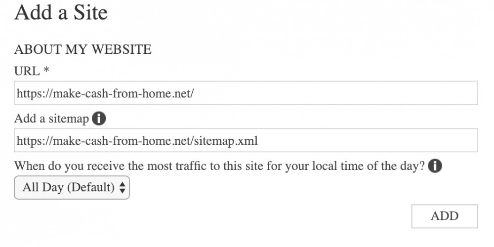 Add a SItemap - Bing Webmaster tools