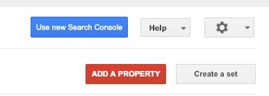Use new Search Console
