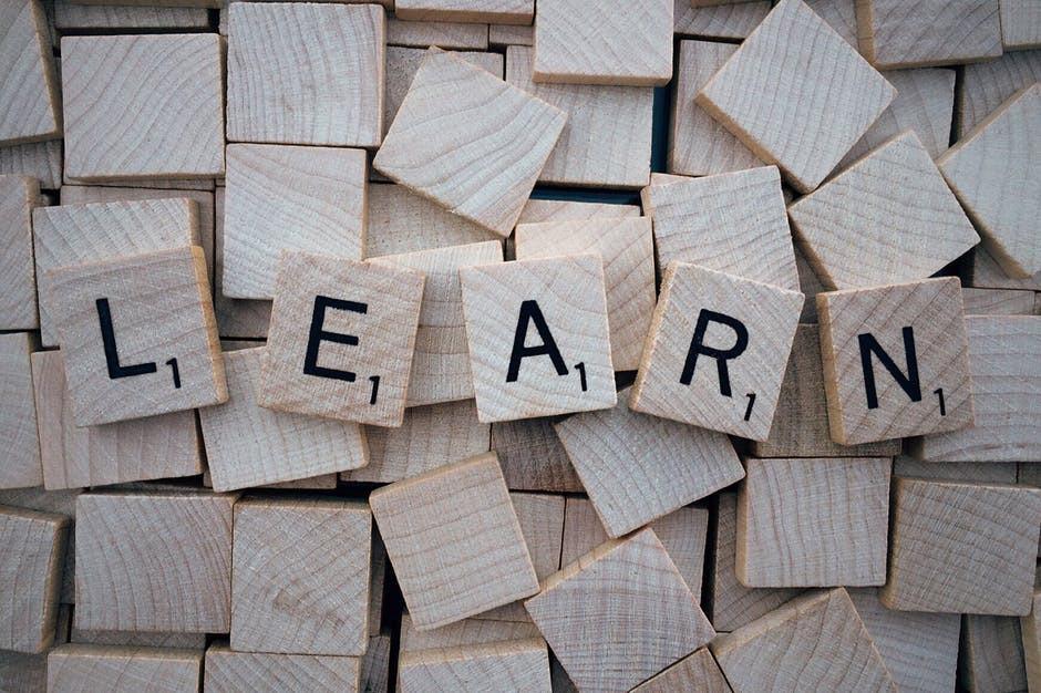 blocks spelling out learn - learn marketing