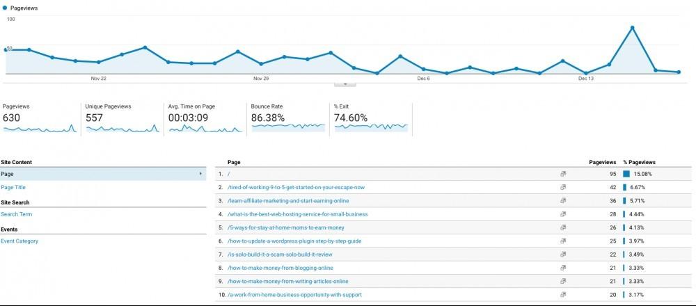 Behaviour Report - Google Analytics