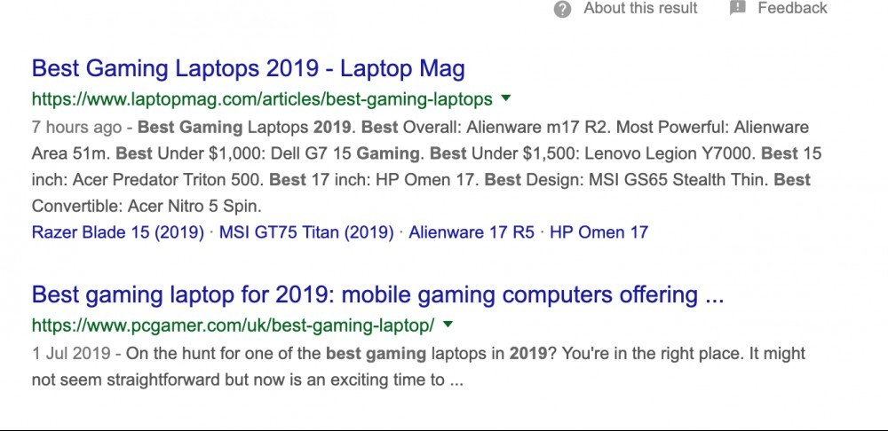 best gaming laptop search results - Google