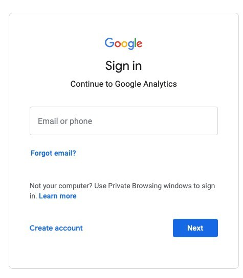 Sign up for Google Account