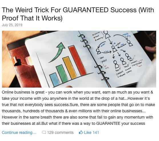 WA - weird trick for success