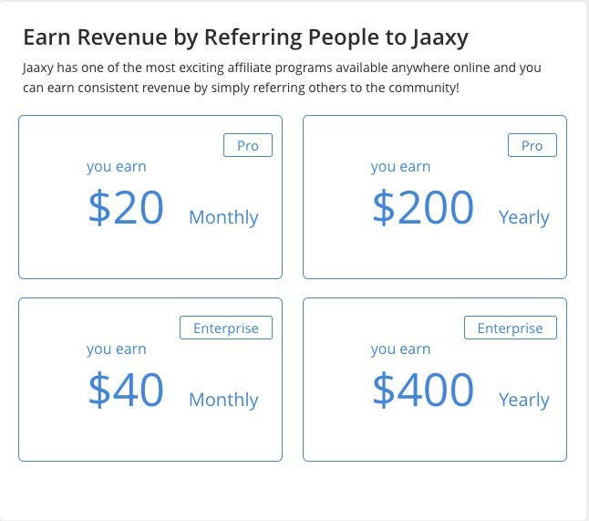 Affiliate Program Commission Rates - Jaaxy