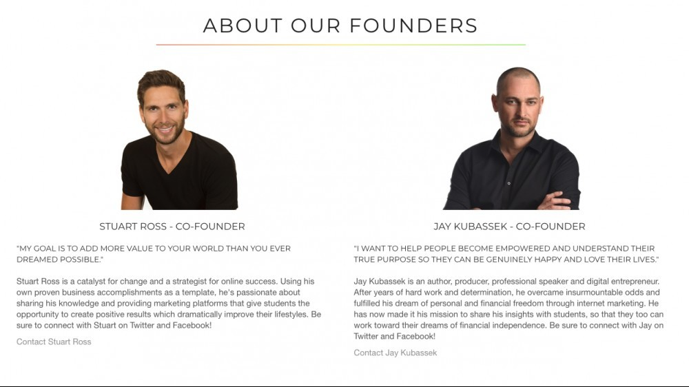 Owners of SFM - Stuart Ross & Jay Kubassek