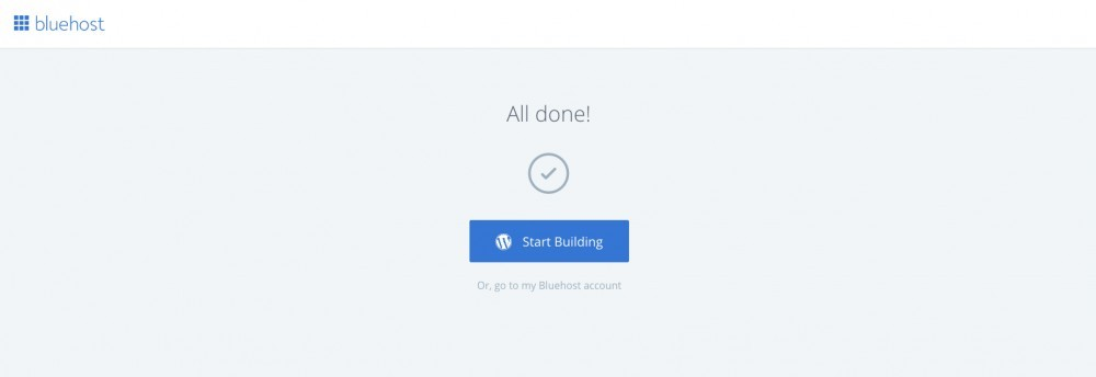 Bluehost WordPress - One-click build