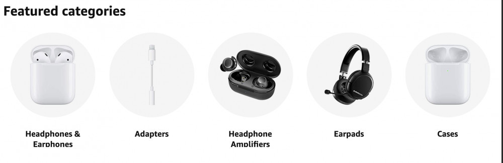 amazon headphones sub category