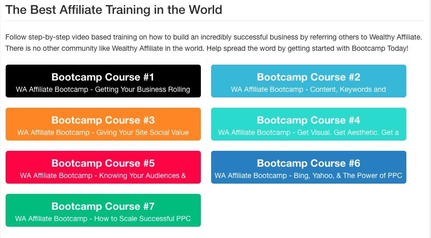 Wealthy Affiliate Affiliate Bootcamp