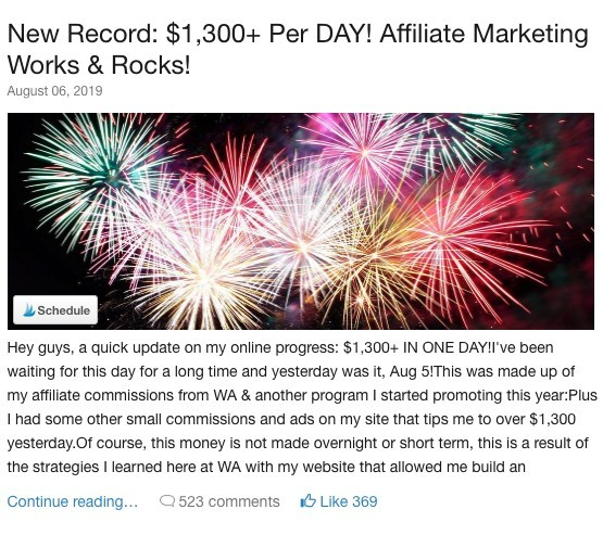 wealthy affiliate success story 4