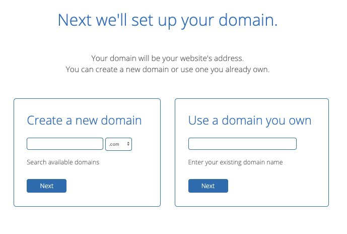 Create your domain - bluehost