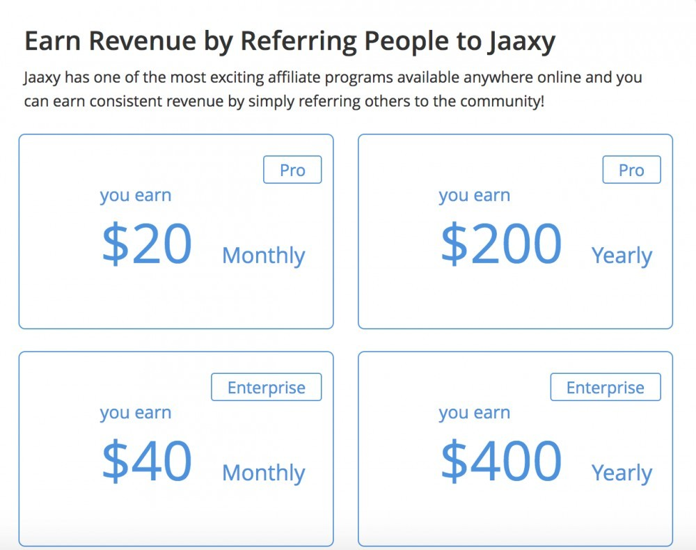Jaaxy - Affiliate Program Rewards