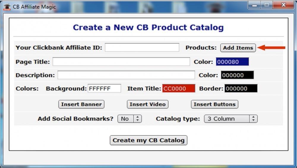 CB Affiliate Magic - Create a product catalog