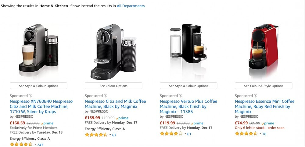 Coffee Machines Example - Affiliate Marketing