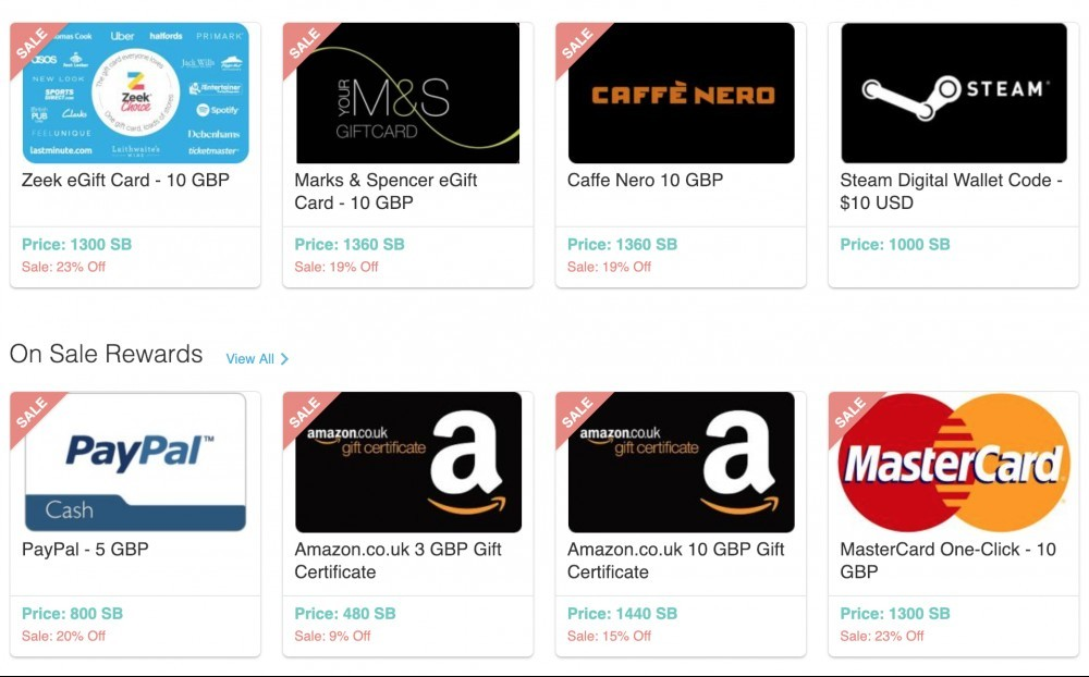 Swagbucks - Redeemable Gift Cards