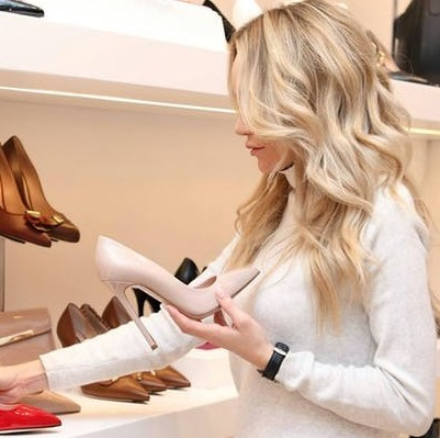 Woman Shoping for Shoes