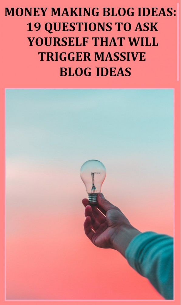 money making blog ideas