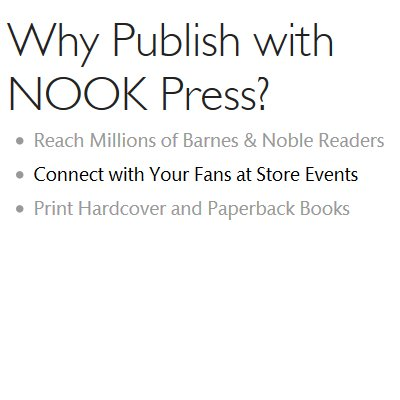 Self-publishing an eBook for free with Nookpress