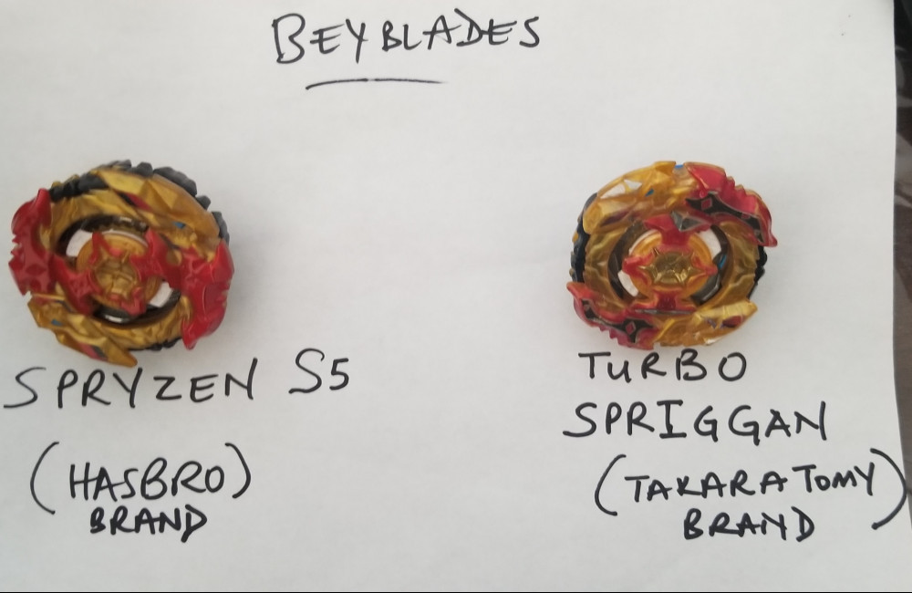 Spryzen S5 Beyblade and Turbo Spriggan Beyblade