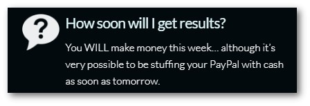 make cash as soon as tomorrow
