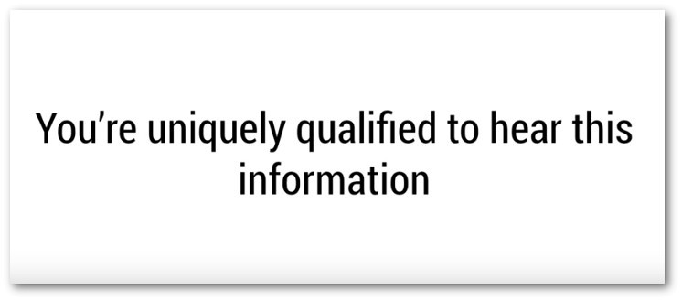 says your uniquely qualified