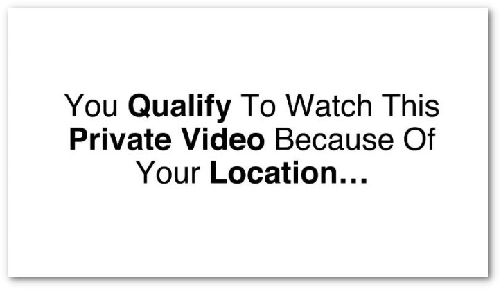 Says your watching a private video
