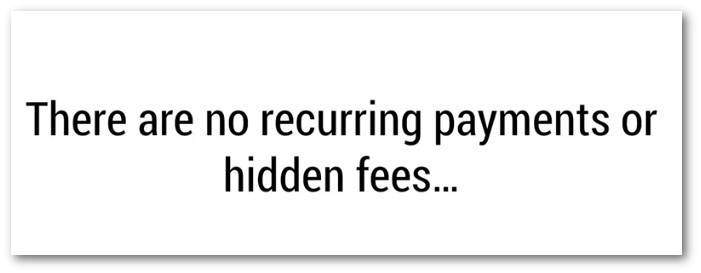 Says there's no hidden fees