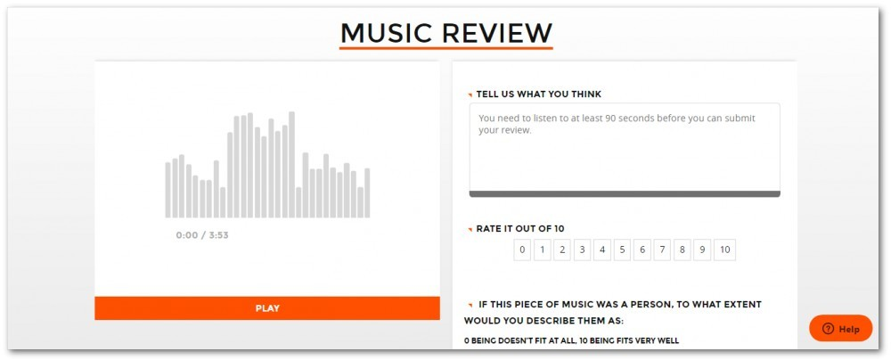 Where you review a song