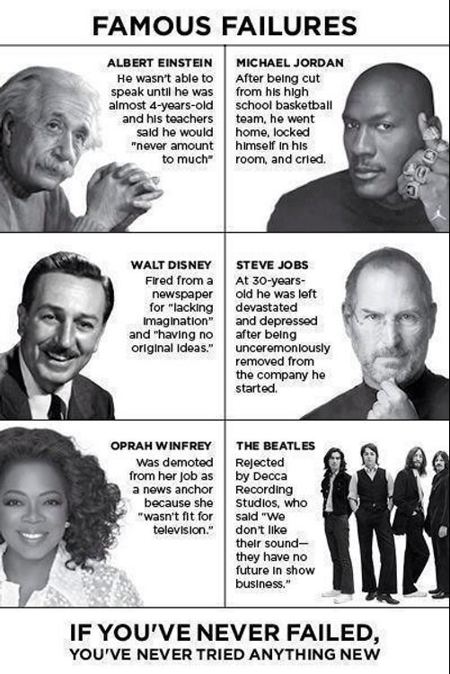 famous people's failures