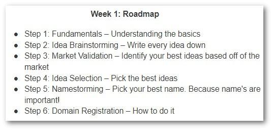 Week 1 - Roadmap