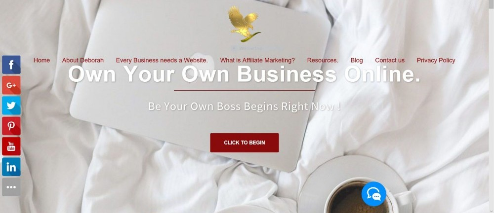 Own your own business online screenshot.