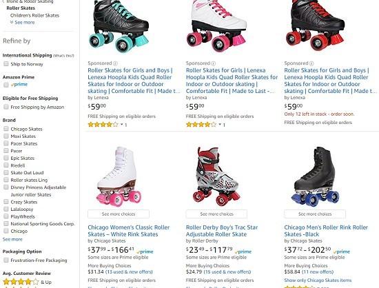 Amazon Roller Skates
